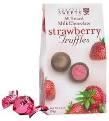 harvest sweets milk chocolate strawberry truffles 2 6 oz the