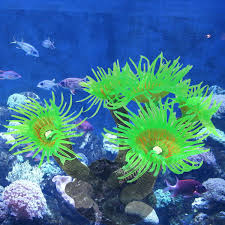 Aquarium Purple Artificial Sea Anemone Coral Fish Tank Ornament