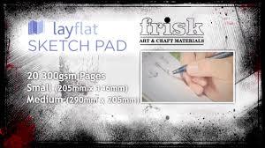 frisk layflat pad sketching pads youtube