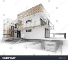 home design drawing house design progress architecture drawing visualization stock