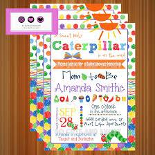 baby shower invitation u2013 the very hungry caterpillar inspired