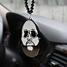 wish noizzy cool beard rap hip hop car auto rearview mirror