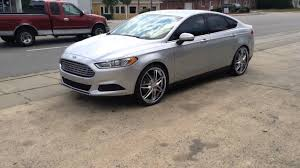 rims for 2014 ford fusion 2014 silver ford fusion rolling on 22 alloy tech 312s lezetti
