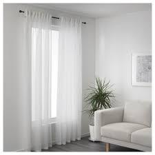Sheer Window Treatments Gjertrud Sheer Curtains 1 Pair White 145x250 Cm Ikea