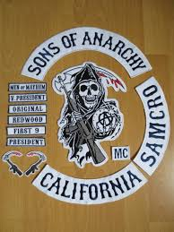Sons Anarchy Costume Halloween Original Sons Anarchy Embroidery Twill Biker Patches Jacket