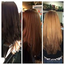 blonde red brown hair color with highlights smooth gorgeous shine