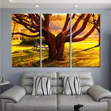 Wall Paintings For Living Room Online Shop 3 Pieces Giant Trees Wall Pictures For Living Room