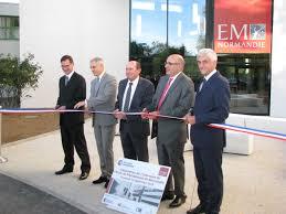 chambre de commerce et d industrie caen communique de presse 23 09 2016 inauguration extension em normandie