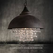 rustic industrial pendant lighting rustic industrial crystal pendant light loft vintage chandelier