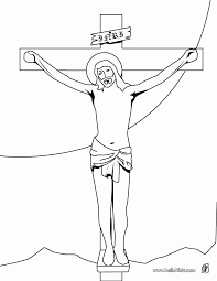 jesus on cross coloring page 426678