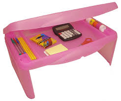 portable lap desk with storage amazon com storage folding lap desk frosted pink 2 5 h x 17 5 w