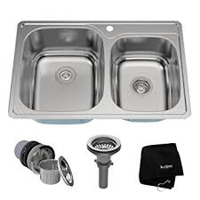 40 Inch Kitchen Sink Kraus Ktm32 33 Inch Topmount 60 40 Bowl 18 Stainless