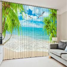 online get cheap 3d beach curtain aliexpress com alibaba group