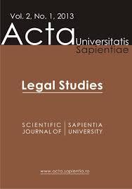 legal studies vol 2 no 1 2013 by acta universitatis sapientiae