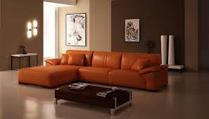 light brown leather sofa as alternative living room furniture