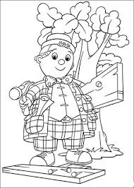 noddy wooden doll lives toyland coloring