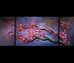 modern wall imanada japanese cherry blossom canvas abstract