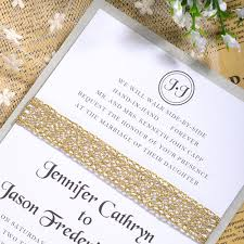 layered wedding invitations affordable glitter ribbon layered wedding invitations ewls027 as