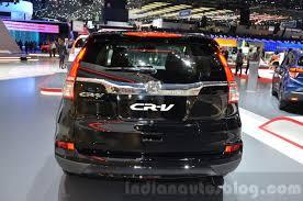 honda crv 2016 interior honda cr v black edition rear wheel at gims 2016 indian autos blog