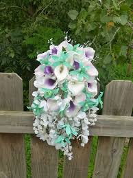 cascading bouquet calla orchid cascading bouquet bright mint lavender