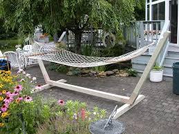 diy wooden hammock stand interior design ideas