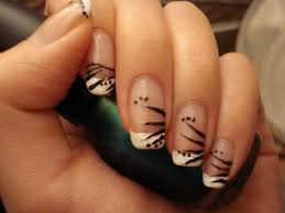 nail designs on french tips how you can do it at home pictures