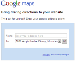 driving directions maps add driving directions on website to find business location