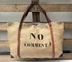 sac cabas en lin sac cabas toile de jute cuir inscription vendu mais en