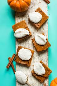 vegan desserts for thanksgiving creamy pumpkin pie bars minimalist baker recipes
