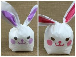 rabbit cookies 19x34cm large plastic bag rabbit cookies snack pastry bag wedding