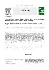 PDF A genetic linkage map with 178 SSR and 1 901 SNP markers