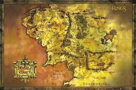map from lord of the rings lord of the rings map of middle earth poster print