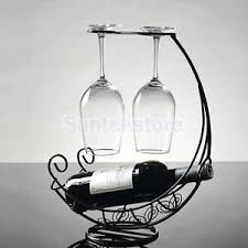 metal bottle wine holder ornament wine champagne glass hanger rack