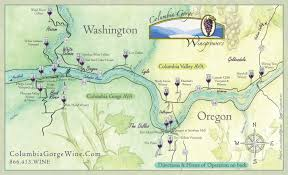 Oregon Winery Map by Columbia Gorge Wine Map Lyle Washington U2022 Mappery