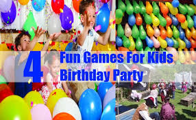 birthday party for kids four for kids birthday party exciting and