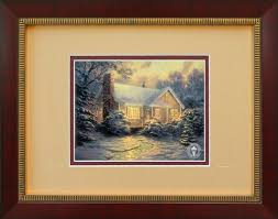cottage kinkade framed wallspace