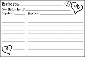 Printable Recipe Cards 4 X 6 | valentine s day 4x6 recipe card free printable free printable index