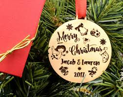 christmas ornament for couple newlyweds custom ornament