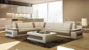 Brown Leather Sectional Sofa by Divani Casa 5083 Modern Leather Sectional Sofa W Coffee Table