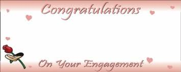 congratulations engagement banner congratulations on your engagement hearts and pink and white