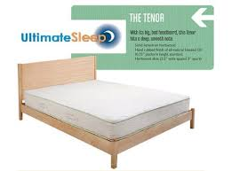 the tenor solid wood bed frame oak maple cherry or walnut in