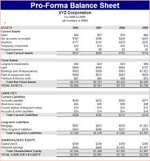 Pro Forma Balance Sheet Template 7 Pro Forma Balance Sheet Procedure Template Sle
