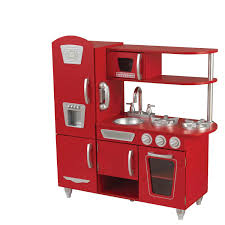 elegant kidkraft red retro kitchen taste