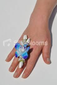 galaxy co wedding rings shop fresh touch galaxy blue dendrobium orchid wedding ring