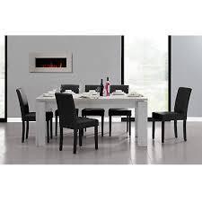 esszimmer tisch en casa esstisch 180x95 eiche weiss 6 stühle schwarz esszimmer