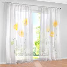 Yellow Sheer Curtains 2017 Tulle Curtains For Bedroom Yellow Flower Window