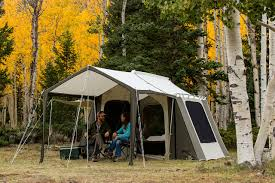 Permanent Tent Cabins Kodiak Canvas Cabin Tent 6133 6 Person 9x12 With Deluxe Awning Canopy