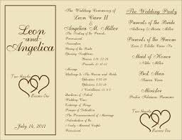 Wedding Ceremony Pamphlet Wedding Ceremony Programs Template Free Finding Wedding Ideas