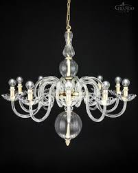 Czech Crystal Chandeliers 118 10 Ch Gold Leaf Crystal Chandelier With Details By Swarovski