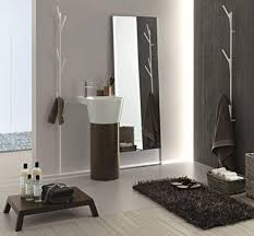 stone bathroom ideas glass shower room mix towel bar black stone